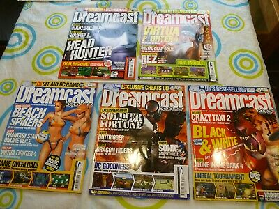 Dreamcast 5x Magazines Used but in Nice Condition See Pics 22 24 25 26 27