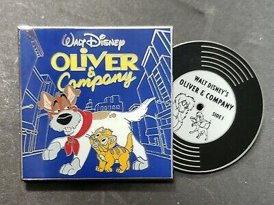 Disney Oliver and Company Cat Vintage Vinyl Record LE Pin Of The Month Series
