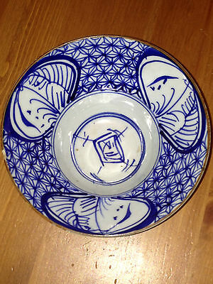 Stunning  chinese blue and white bowl 18th Century signed lovely condition