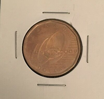 2009 - Montreal Canadian 100th 1$ Dollar Coin Loonie Canada