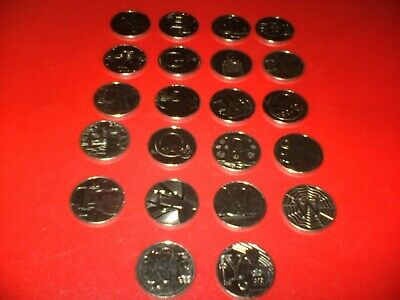 ALPHABET 10p A-Z COINS 2018 NEARLY A FULL SET 22 x 10p COINS from Sealed Bags