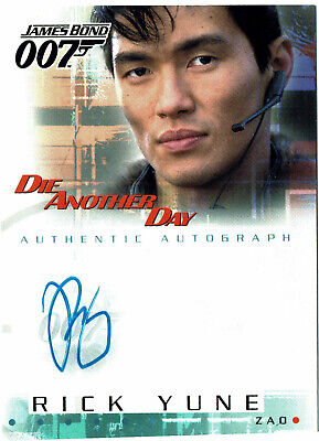 James Bond Die Another Day Autograph Card A6 Rick Yune as Zao