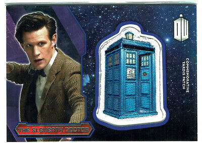 Doctor Who Topps 2015 Tardis Patch Card Silver Base The Eleventh Doctor
