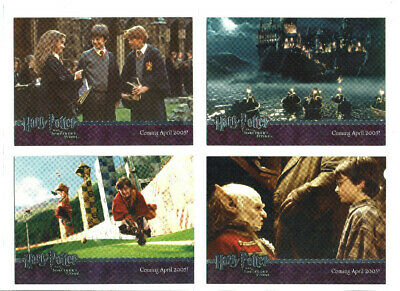 Harry Potter Sorcerer's Stone Silver Foil Promo Card Set 4 Cards Promo 01 to 04
