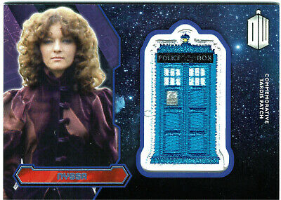 Doctor Who Topps 2015 Tardis Patch Card PURPLE Parallel Nyssa #78/99