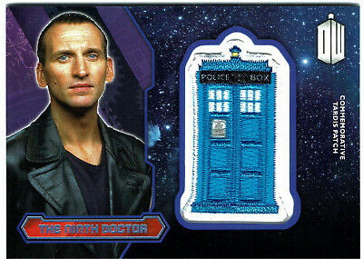 Doctor Who Topps 2015 Tardis Patch Card PURPLE Parallel The Ninth Doctor #23/99