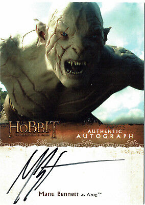 The Hobbit The Desolation of Smaug Autograph Card Manu Bennett as Azog