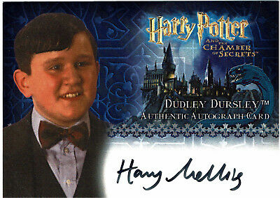 Harry Potter Chamber of Secrets Autograph Card Harry Melling as Dudley Dursley