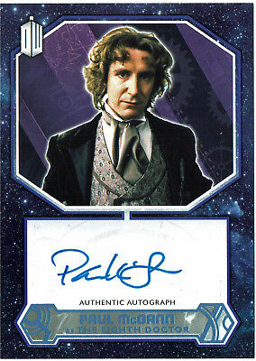 Doctor Who 2015 Autograph Card Paul McGann The Eighth Doctor Blue Parallel 14/50