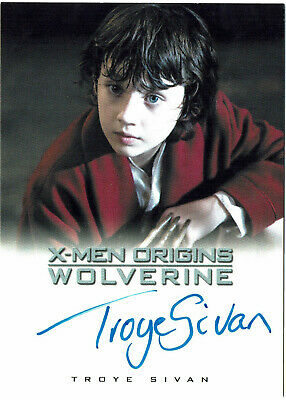 X-Men Origins Wolverine Autograph Card Troye Sivan as Young Logan