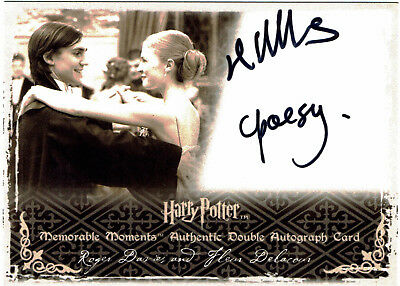 Harry Potter Memorable Moments S2 Auto Card Clemence Poesy & Roger Lloyd Hughes
