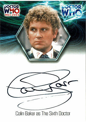 Doctor Who 40th Anniversary Autograph Card WA7 Colin Baker as The Sixth Doctor
