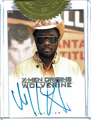 X-Men Origins Wolverine Movie Autograph Card Will.i.am as John Wraith Dealer Inc