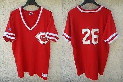 Maillot baseball REDS CINCINNATI porté 26 70's vintage jersey shirt made in USA