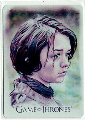 Game of Thrones Inflexions Artifex Metal Card AF11 Arya Stark Jason Davies 04/25