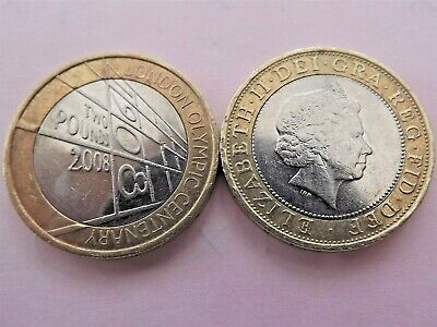 London Olympic Centenary £2 pound coin