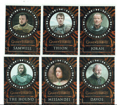 Game of Thrones Inflexions Complete Insert Set 18-card Laser Cut Cards L19 - L36
