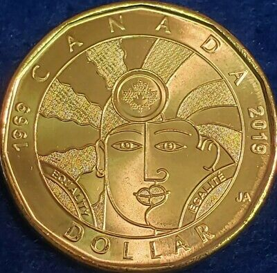 2019 EQUALITY Canadian Dollar BU From Mint Roll   ID #A11