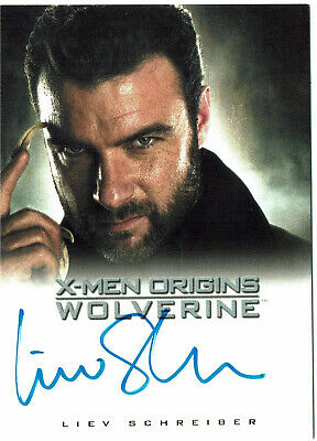 X-Men Origins Wolverine Autograph Card Liev Schreiber as Victor Creed Marvel