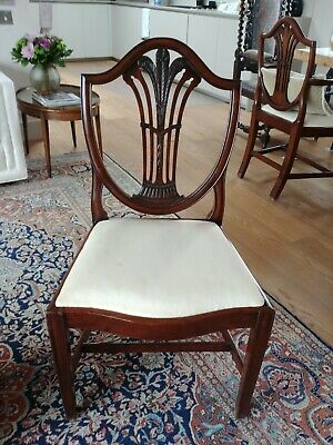 Set 8 Authentic 18Th Century Federalist Dining Chairs Prince Of Wales Feathers