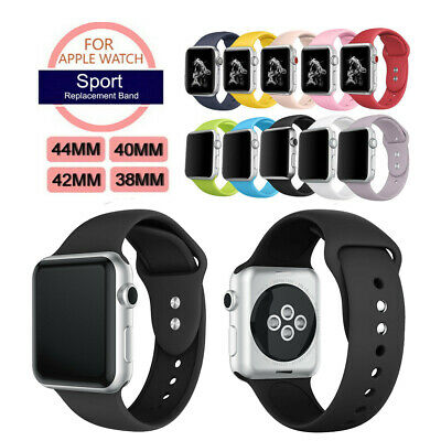 Silicone Sport Loop Bracelet Watch Band Strap For Apple iWatch 1/2/3/4 Series UK