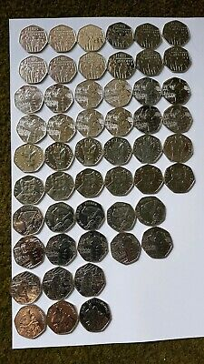 Rare 50p coins pick 8 50ps for £10.99 posted.Please read ad.No Jemima Puddleduck