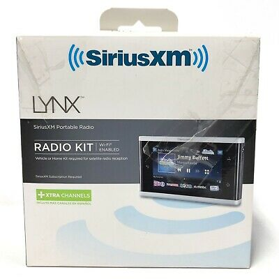 Sirius XM Lynx Portable Satellite Radio in Box Complete MINT Software UPDATED