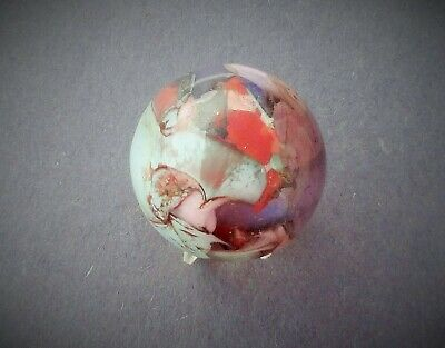 "Marbles Handmade Beautiful Antique? Vintage? Unknown Artist  Marble 5/8""     F/4"