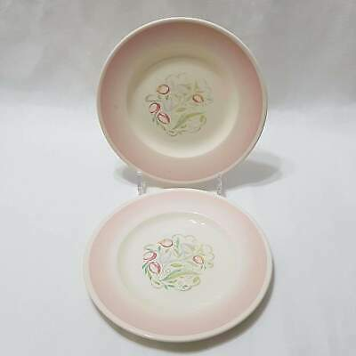 "Vintage - Susie Cooper Dresden Spray Pink [1005] - Salad Plate 8"" - Set of 2"