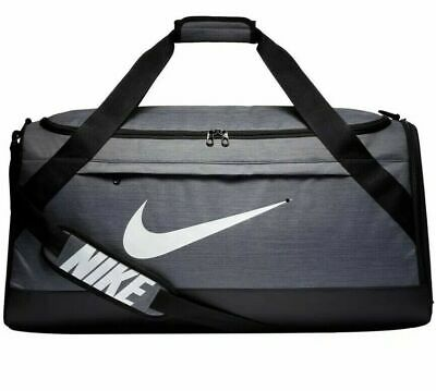 db0d593c13bddf NIKE BRASILIA TRAINING Duffel Bag- Large Gray And Black BA5978-064 ...