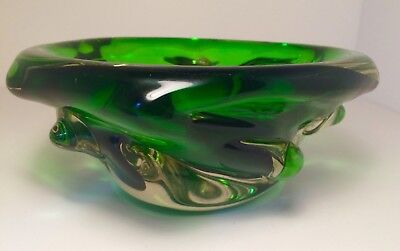 Stunning Large Art Glass Bowl - Czech/ Murano