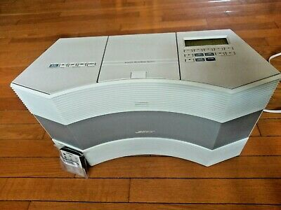 Bose Acoustic Wave CD-3000 Music System CD Player Radio Changer White Remote