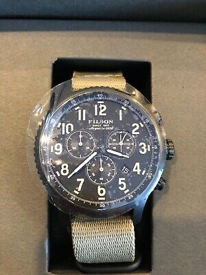 197ba59d3 FILSON BY SHINOLA Mackinaw Field Men's Watch Stainless Made in USA ...