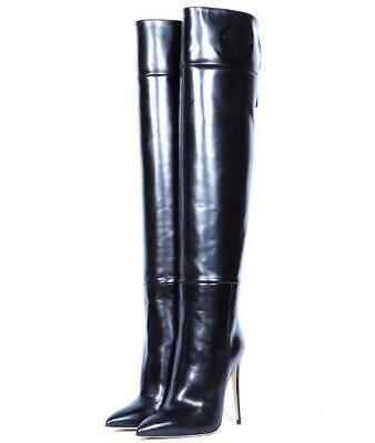 Ladies Pointed Toe High Heel Over the Knee Boots Thigh Boots Stilettos Show Stag