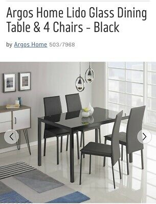 af7c1bc4c9 ARGOS HOME LIDO Glass Bar Table and 2 Chairs - Black - £99.99 ...