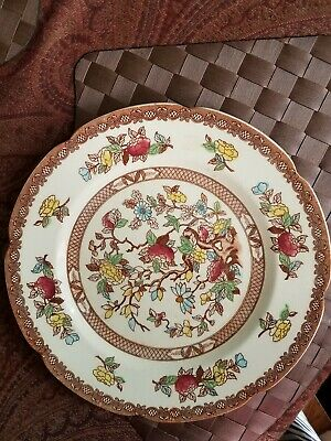 Vintage Indian Tree handcrafted dinner  plate 10 inc by  Maruta Japan