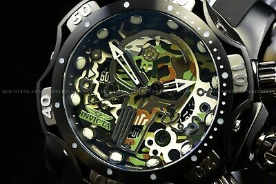 Invicta Mens 53mm Limited Edition Marvel Punisher Chronograph Black Strap Watch