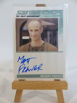 Star Trek Complete Next Generation Series 2 Autograph Card Matt Frewer Rasmussen