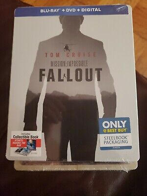 Mission Impossible  Fallout *Steelbook* Brand New w/Digital (Blu-Ray/DVD 2018)