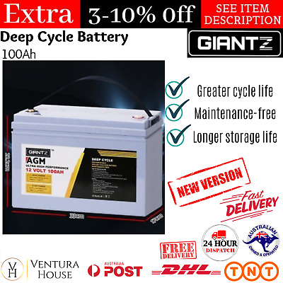 12V 100AH DEEP Cycle Lithium Battery Caravan Solar 4Wd