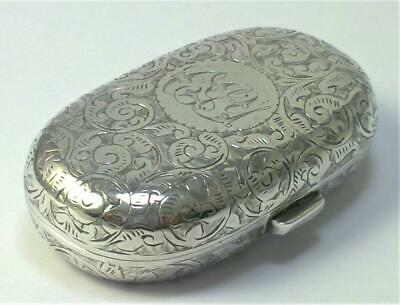 Victorian hallmarked Sterling Silver Double Sovereign Case (Full & Half) – 1898