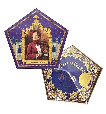 Wizarding World of Harry Potter SEALED Chocolate Frog with Artemisia Lufkin Card