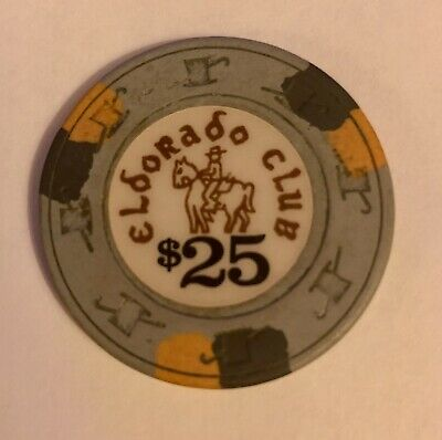 Eldorado Club $25 Casino Chip Rare Obsolete Poker Blackjack California CardRoom