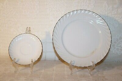 "Norleans China ESTATE Made in Japan 10 1/2"" Dinner Plate 6"" Saucer (1 each)"