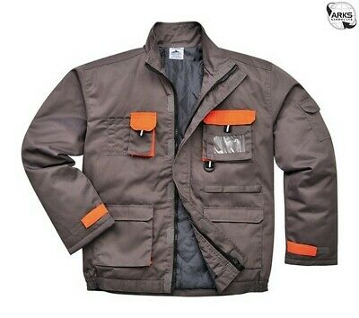 PORTWEST Texo Contrast Lined Jacket - Charcoal - Small TX18GRRS
