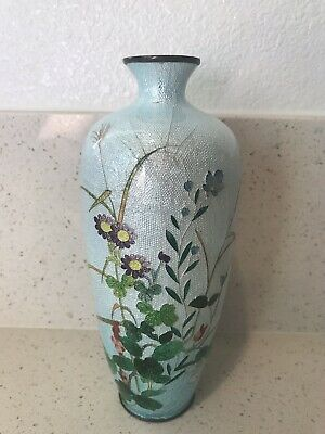 Antique Japanese Cloisonne Vase - 7 Inches tall