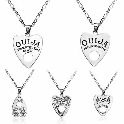 Antique Vintage Style Gothic Ouija Board Pendants Heart Necklace Charm Jewelry