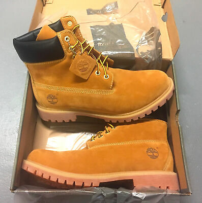ce371bd5fd New Men's Timberland Boots 6 Inch Premium Waterproof 10061 Wheat Nubuck