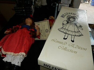 Beautiful Hillview Lane Porcelain Doll With Certificate And Original Box Nicole