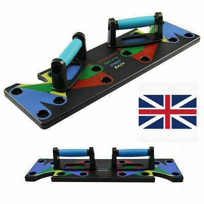 9in1 Push-up Board Stand Fitness Workout System Gym Muscle Training Exercise UK